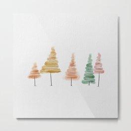Fall Trees//Watercolor Sketch  Metal Print