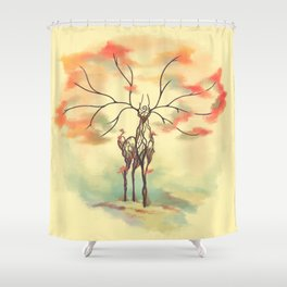 Essence of Nature - A Deer's Echo Shower Curtain