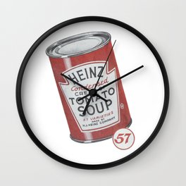 Heinz tomato soup can Wall Clock