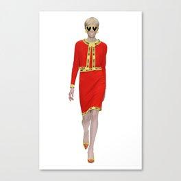 Runway Moschino Girl McDonalds Canvas Print