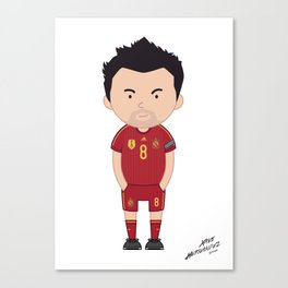 Xavi Hernandez - Spain - World Cup 2014 Jersey Canvas Print