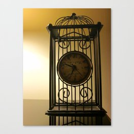 Time In A Yellow Field Canvas Print