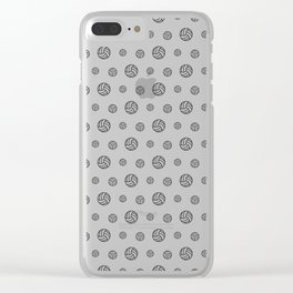 Volleyball sport pattern outline Clear iPhone Case