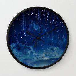 Falling stars I Wall Clock