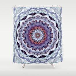 Lavender Stone Mandala Shower Curtain