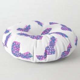 Modern ink Pineapple pattern design - white Floor Pillow