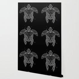 Sea turtle made of precious lace Wallpaper