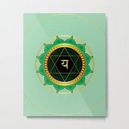 Anahata (Heart) 4th Chakra Metal Print