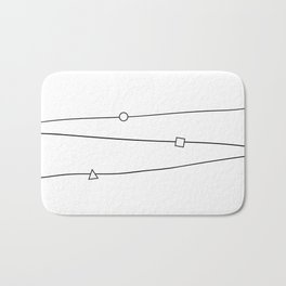 Lines and geometric shapes, simple Bath Mat
