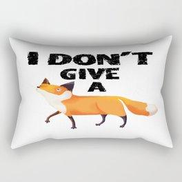 I don't give a Fox Rectangular Pillow