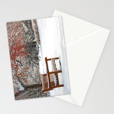 Winter Bench and Crabapple Tree Stationery Cards