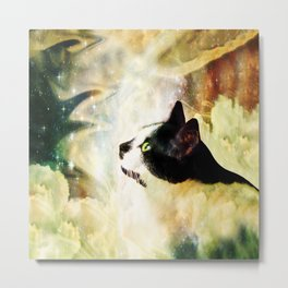 Gypsy Da Fleuky Cat and the Kitty Whisker Wishes Metal Print