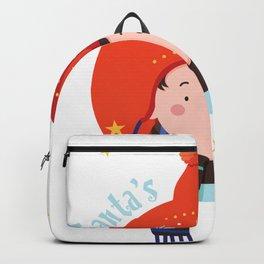 Santas Little Helper Girl Backpack