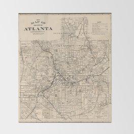 1906 Map of Atlanta, GA Throw Blanket