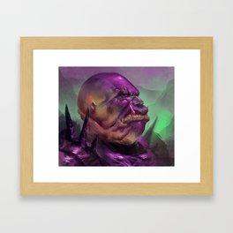 Purple Orc Framed Art Print