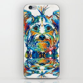 Colorful Yorkie Dog Art - Yorkshire Terrier - By Sharon Cummings iPhone Skin