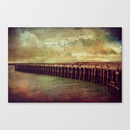 Step Back in Time at Sumpter Wharf Canvas Print