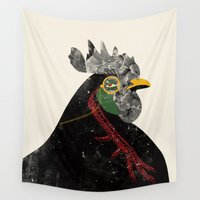 rooster Wall Tapestries featuring Rooster by Urška Hočevar