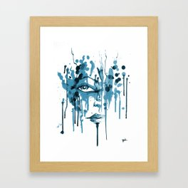 Encres blue Framed Art Print