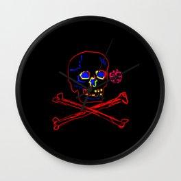 Los Muertos ^ 005 ^ Skull art Wall Clock