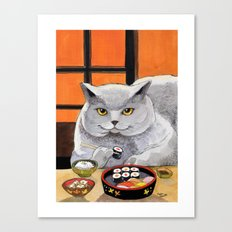 Sushi Cat- Big Fred  Canvas Print
