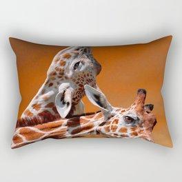 Giraffes couple in love Rectangular Pillow