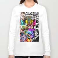 bands Long Sleeve T-shirts featuring Bands Photobomb by KurtCortis