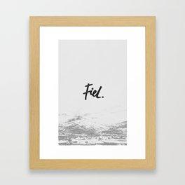 Fiel Framed Art Print