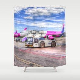 Wizz Air Aircraft Shower Curtain