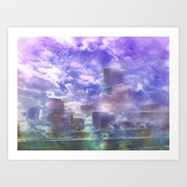 City of the Future Art Print