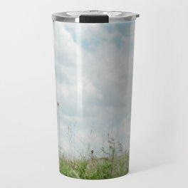 Wildflower Sky - Clouds and Flowers Travel Mug
