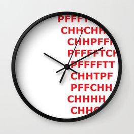 PFFFTTTCHH Meme Wall Clock