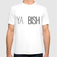 YA  BISH White Mens Fitted Tee MEDIUM