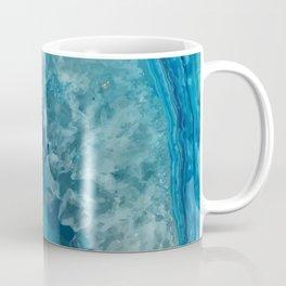 Teal Blue Agate slice Coffee Mug