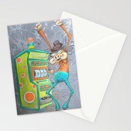 Skinny Pig playing Slot Machine Stationery Cards