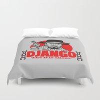 django Duvet Covers featuring Django logo by Buby87