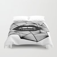 lips Duvet Covers featuring Lips by Aurelie