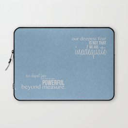 Our Deepest Fear - Coach Carter - Quote Poster Laptop Sleeve