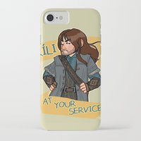 kili iPhone & iPod Cases featuring Kili at Your Service by Hattie Hedgehog