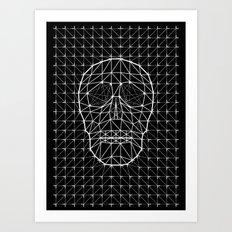 Triangle and Line Art Skull Art Print