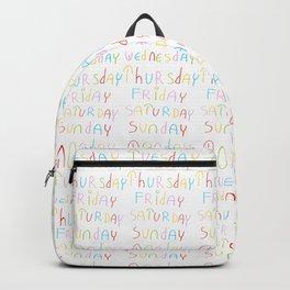 days in a week 2- day,week, daytime,dia,semana,child,school Backpack