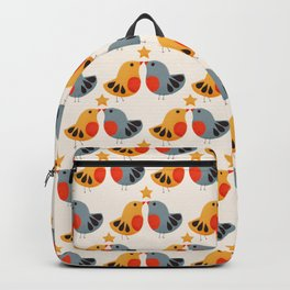 Festive Birds and Star Backpack