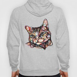 sweet cat line style - gatto dolce - chat doux - gato dulce Hoody