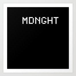 Midnight (BLCK #6) Art Print