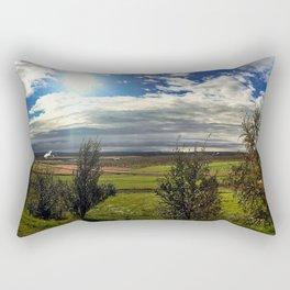 Panorama from Efsti-Dalur Farm in Laugarvatn, Iceland Rectangular Pillow