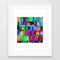 glitch Framed Art Prints featuring GLITCH by C O R N E L L