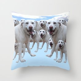 Just a Happy Dog 3. Throw Pillow
