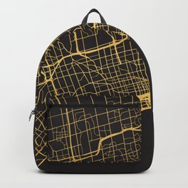 TORONTO CANADA GOLD ON BLACK CITY MAP Backpack