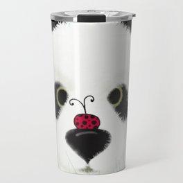 The Panda Bear And His Visitor Travel Mug