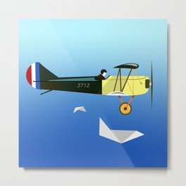 Curtiss Jenny JN 4D pioneer of flight Ameli Lost poster vintage aircraft sky and clouds air picture Metal Print